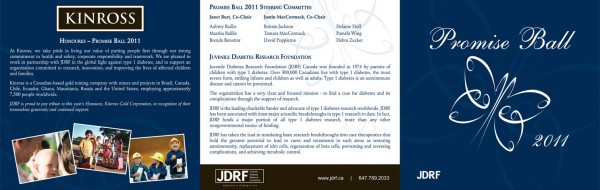 2011 JDRF Promise Ball Invite