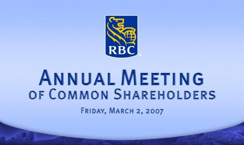 RBC AGM 2007