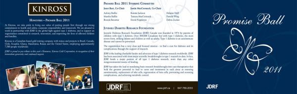2011 JDRF Promise Ball Invite